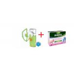 Kiwi Plus inhalaator + Humer füsioloogiline mereveelahus 5ml x 18 ampulli
